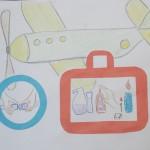 """Эскиз плаката """"правила безопасности в самолете"""""""