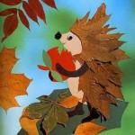 Аппликации из листьев для детского сада и школы