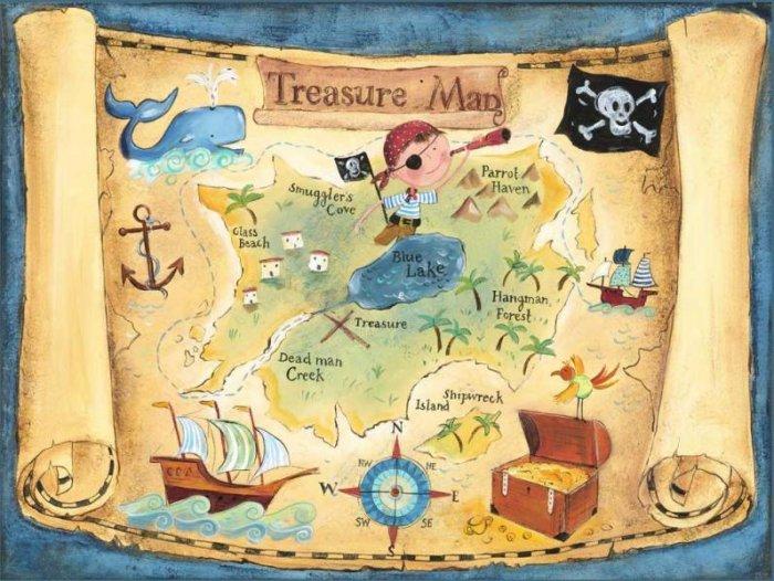 Добавьте пиратских атрибутов и карта