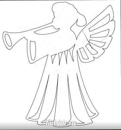Ангелы своими руками трафареты
