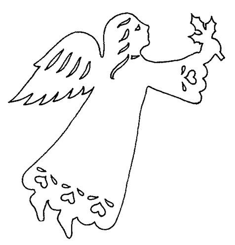 Ангел из бумаги трафареты