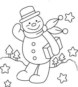 Снеговик из макарон своими руками