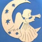 Шаблоны ангелов из бумаги| Новогодние трафареты на окна