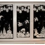Шаблоны домиков и природы |Новогодние трафареты на окна