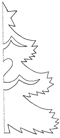 трафареты елочки из бумаги