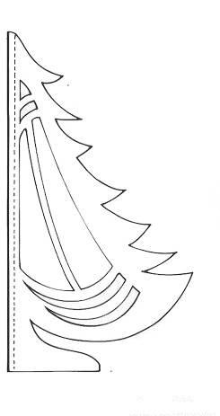 Вырезать ёлочку из бумаги своими руками
