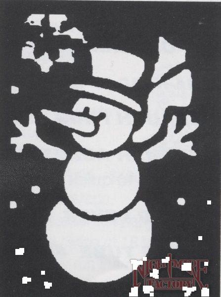 Как вырезать снеговика