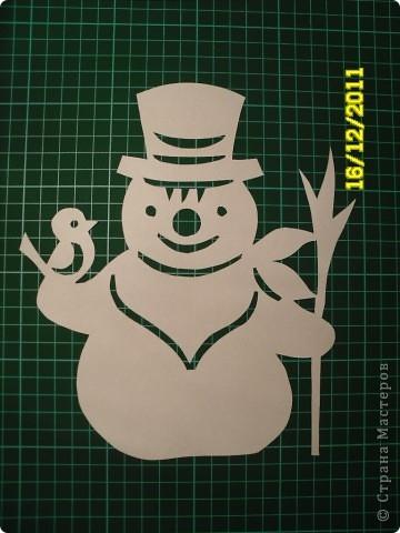 Снеговика вырезать своими руками