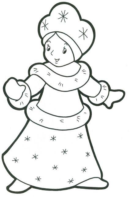 Шаблон снеговика из бумаги своими руками